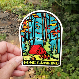 Gone Camping Sticker