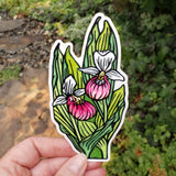Lady Slipper Sticker