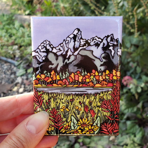 Teton Mountains Magnet
