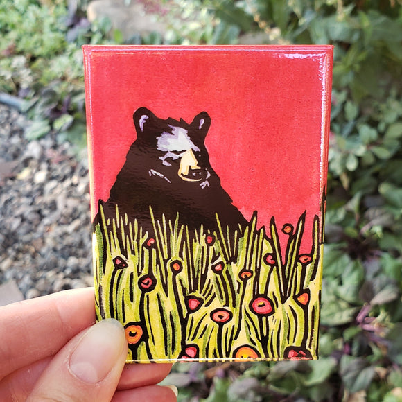 Naptime Black Bear Magnet
