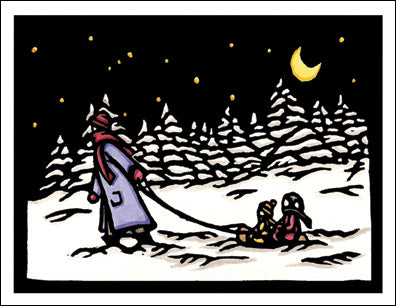 Heading Home - Packaged Christmas Cards - Sarah Angst Art Greeting Cards, Giclee Prints, Jewelry, More