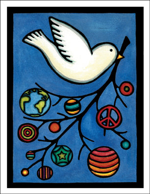 Dove - Packaged Christmas Cards - Sarah Angst Art Greeting Cards, Giclee Prints, Jewelry, More