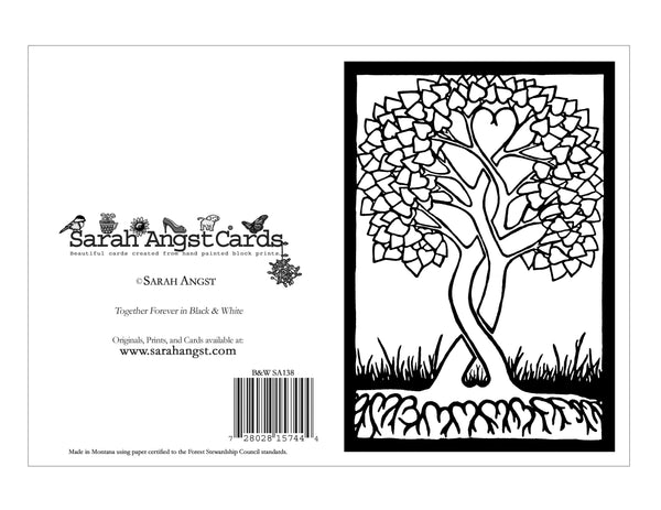Color Your Own Together Forever Card - Sarah Angst Art Greeting Cards, Giclee Prints, Jewelry, More