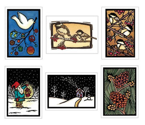 Holiday Classics Collection - 6 Pack - Sarah Angst Art Greeting Cards, Giclee Prints, Jewelry, More