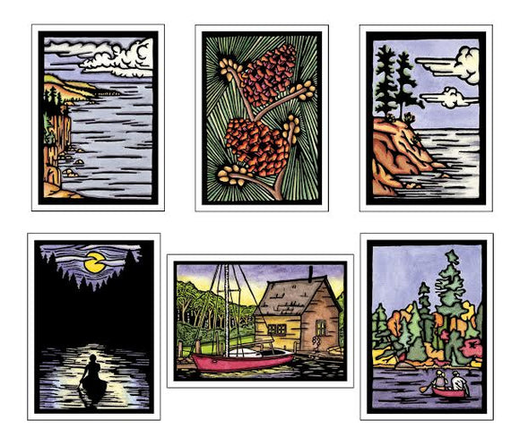 Midwest Collection - 6 Pack - Sarah Angst Art Greeting Cards, Giclee Prints, Jewelry, More