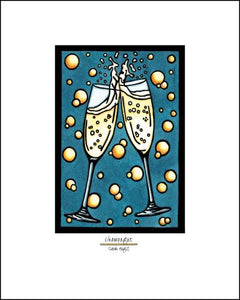 "Champange - 8""x10"" Overstock - Sarah Angst Art Greeting Cards, Giclee Prints, Jewelry, More"