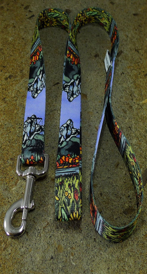 Tetons Dog Leash - Sarah Angst Art Greeting Cards, Giclee Prints, Jewelry, More