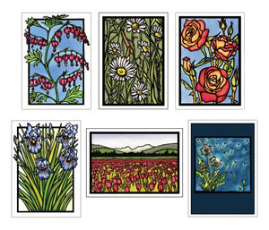 Floral Collection #2 - 6 Pack - Sarah Angst Art Greeting Cards, Giclee Prints, Jewelry, More