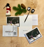 In for the Night - Packaged Christmas Cards - Sarah Angst Art Greeting Cards, Giclee Prints, Jewelry, More