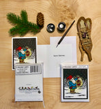 The Tomten - Packaged Christmas Cards - Sarah Angst Art Greeting Cards, Giclee Prints, Jewelry, More