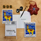 Holiday Llama - Packaged Christmas Cards - Sarah Angst Art Greeting Cards, Giclee Prints, Jewelry, More