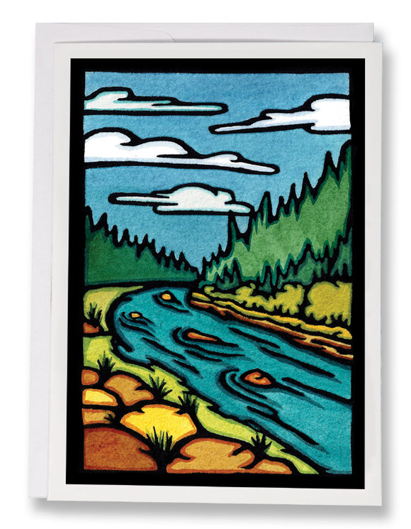 The River - 231 - Sarah Angst Art Greeting Cards, Giclee Prints, Jewelry, More
