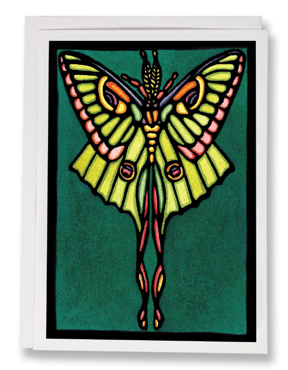 Luna Moth - 232 - Sarah Angst Art Greeting Cards, Giclee Prints, Jewelry, More