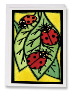 Ladybugs - Sarah Angst Art Greeting Cards, Giclee Prints, Jewelry, More