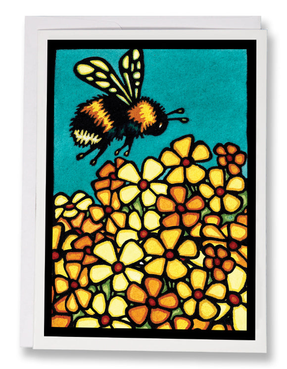 Bumble Bee - Sarah Angst Art Greeting Cards, Giclee Prints, Jewelry, More