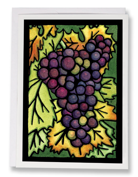 Grapes - Sarah Angst Art Greeting Cards, Giclee Prints, Jewelry, More