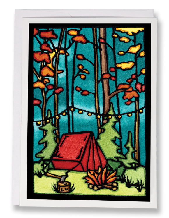 Evening at Camp - 238 - Sarah Angst Art Greeting Cards, Giclee Prints, Jewelry, More