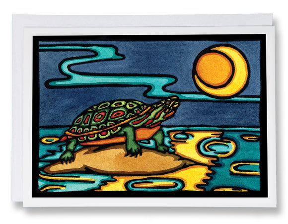 Turtle - 240 - Sarah Angst Art Greeting Cards, Giclee Prints, Jewelry, More