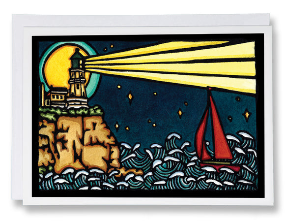 Beacon in the Night - Sarah Angst Art Greeting Cards, Giclee Prints, Jewelry, More