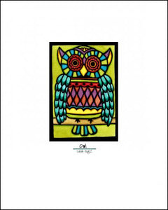 "Owl - 8""x10"" Overstock - Sarah Angst Art Greeting Cards, Giclee Prints, Jewelry, More"