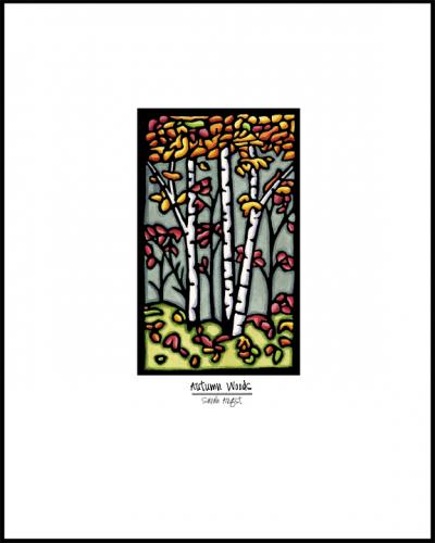 Autumn Woods - Simple Giclee Print