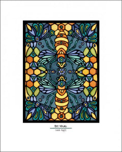Bee Mosaic - Simple Giclee Print - Sarah Angst Art Greeting Cards, Giclee Prints, Jewelry, More