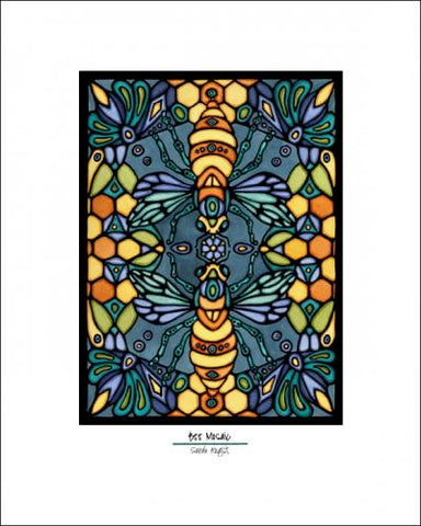 Bee Mosaic - Simple Giclee Print