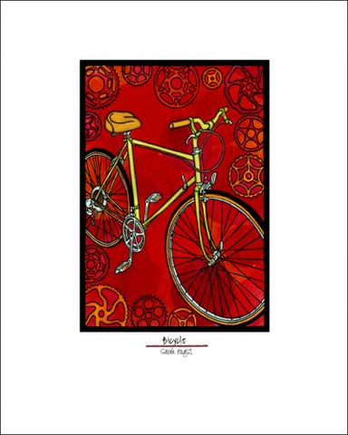 Bicycle - Simple Giclee Print - Sarah Angst Art Greeting Cards, Giclee Prints, Jewelry, More