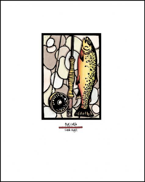 Big Catch - Simple Giclee Print - Sarah Angst Art Greeting Cards, Giclee Prints, Jewelry, More