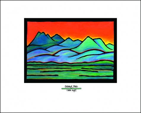 Blue Mountains - Simple Giclee Print - Sarah Angst Art Greeting Cards, Giclee Prints, Jewelry, More