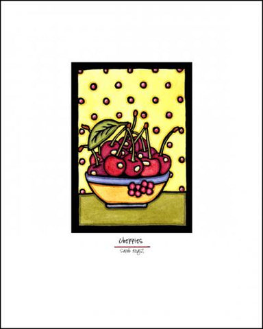 Bowl of Cherries - Simple Giclee Print - Sarah Angst Art Greeting Cards, Giclee Prints, Jewelry, More