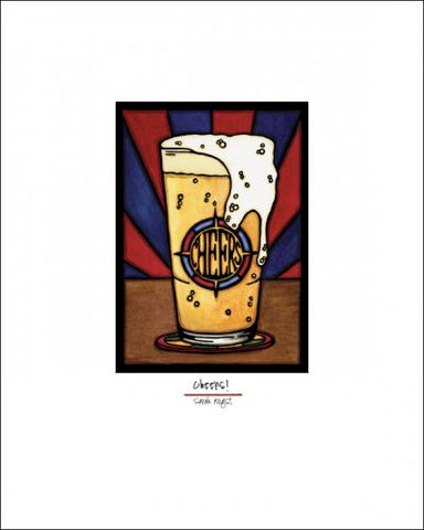 Cheers Beer - Simple Giclee Print - Sarah Angst Art Greeting Cards, Giclee Prints, Jewelry, More