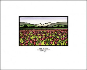 Field of Tulips - Simple Giclee Print - Sarah Angst Art Greeting Cards, Giclee Prints, Jewelry, More