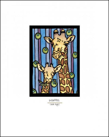 Giraffes - Simple Giclee Print - Sarah Angst Art Greeting Cards, Giclee Prints, Jewelry, More