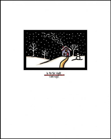 In for the Night - Simple Giclee Print - Sarah Angst Art Greeting Cards, Giclee Prints, Jewelry, More