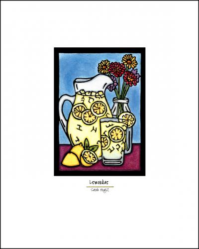 Lemonade - Simple Giclee Print - Sarah Angst Art Greeting Cards, Giclee Prints, Jewelry, More