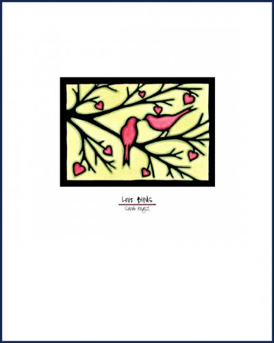 Love Birds - Simple Giclee Print - Sarah Angst Art Greeting Cards, Giclee Prints, Jewelry, More