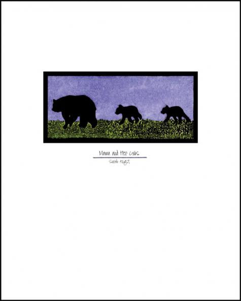 Mama & Cubs - Simple Giclee Print - Sarah Angst Art Greeting Cards, Giclee Prints, Jewelry, More