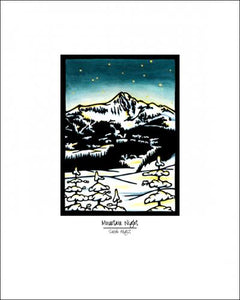 Mountain Night - Simple Giclee Print