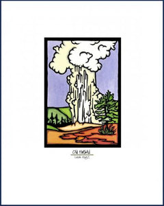 Old Faithful - Simple Giclee Print