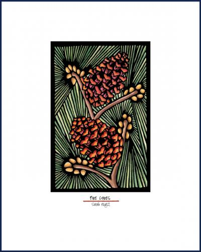 Pinecones - Simple Giclee Print - Sarah Angst Art Greeting Cards, Giclee Prints, Jewelry, More