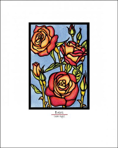 Roses - Simple Giclee Print - Sarah Angst Art Greeting Cards, Giclee Prints, Jewelry, More