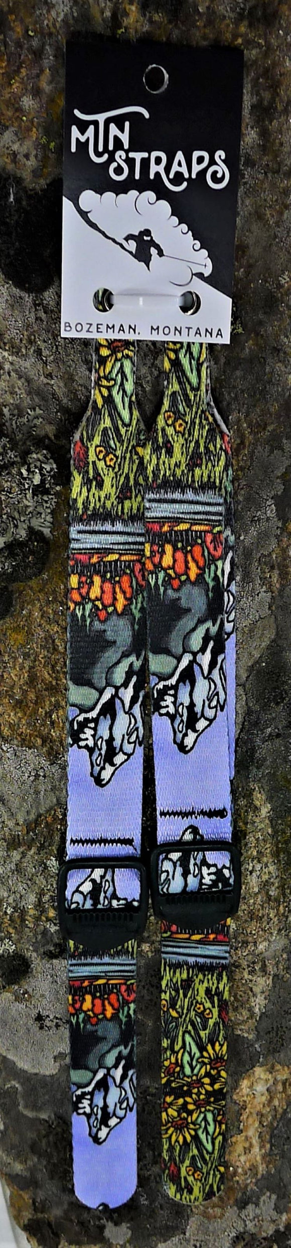 Tetons Ski Pole Straps - Sarah Angst Art Greeting Cards, Giclee Prints, Jewelry, More