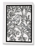 Color Your Own Bluebirds Card - Sarah Angst Art Greeting Cards, Giclee Prints, Jewelry, More