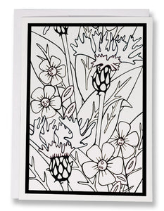 Color Your Own Mountain Bluet Card - Sarah Angst Art Greeting Cards, Giclee Prints, Jewelry, More