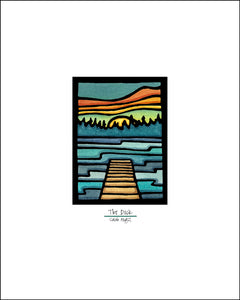 Dock - Simple Giclee Print - Sarah Angst Art Greeting Cards, Giclee Prints, Jewelry, More