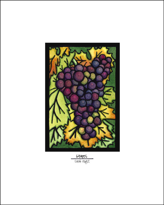 "Grapes - 8""x10"" Overstock - Sarah Angst Art Greeting Cards, Giclee Prints, Jewelry, More"