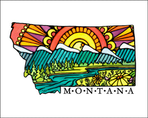 Montana - Simple Giclee Print - Sarah Angst Art Greeting Cards, Giclee Prints, Jewelry, More