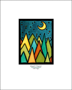 Moonlit Forest - Simple Giclee Print - Sarah Angst Art Greeting Cards, Giclee Prints, Jewelry, More