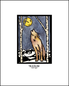 "Wolf - 8""x10"" Overstock - Sarah Angst Art Greeting Cards, Giclee Prints, Jewelry, More"